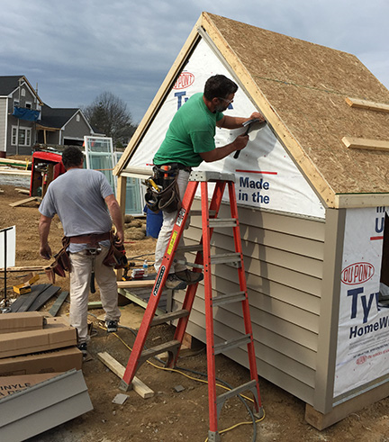 Fischer & Frichtel Carpenters Spend Their Free Time Building a Playhouse to Benefit the March of Dimes